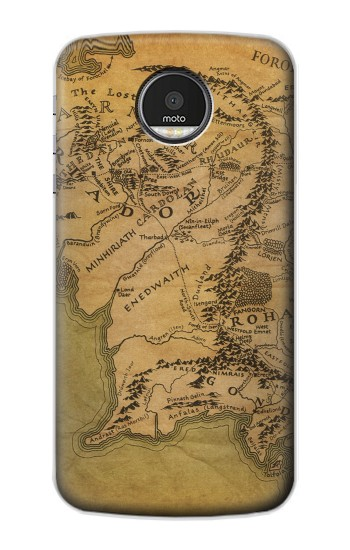 Printed The Lord Of The Rings Middle Earth Map Motorola Moto Z Case