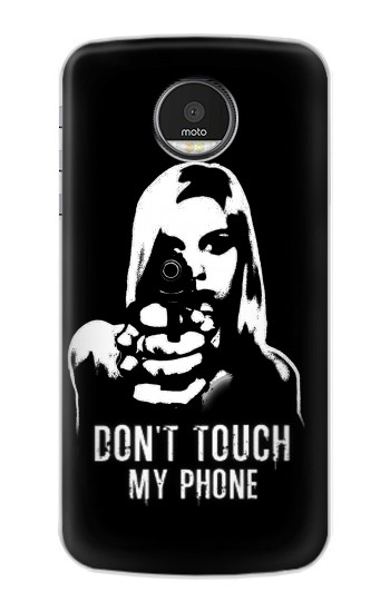 Printed Girl Do Not Touch My Phone Motorola Moto Z Case