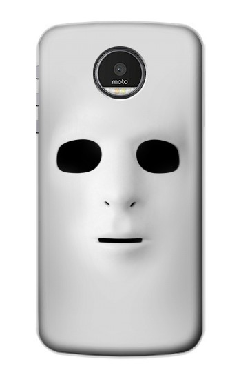 Printed White Face Mask Motorola Moto Z Case