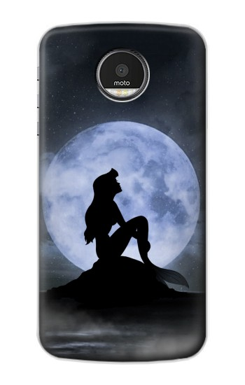 Printed Mermaid Moon Night Motorola Moto Z Case