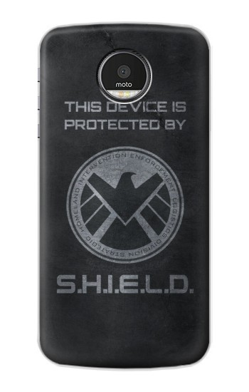 Printed This Device is Protected by Shield Motorola Moto Z Case