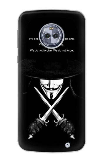 Printed V Mask Guy Fawkes Anonymous Motorola Moto X4 Case