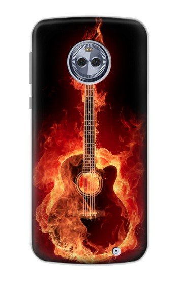 Printed Fire Guitar Burn Motorola Moto X4 Case