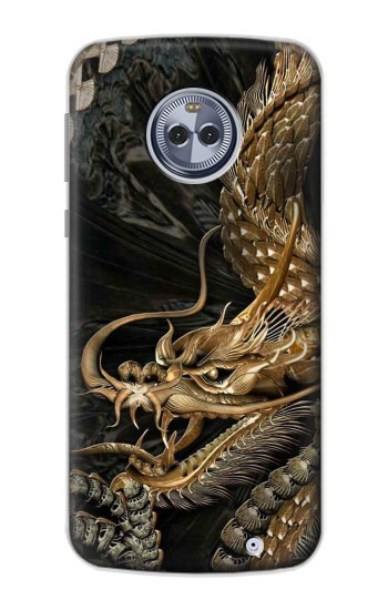 Printed Gold Dragon Motorola Moto X4 Case
