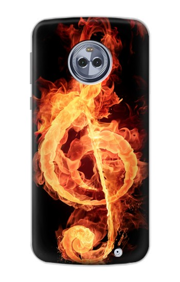 Printed Music Note Burn Motorola Moto X4 Case