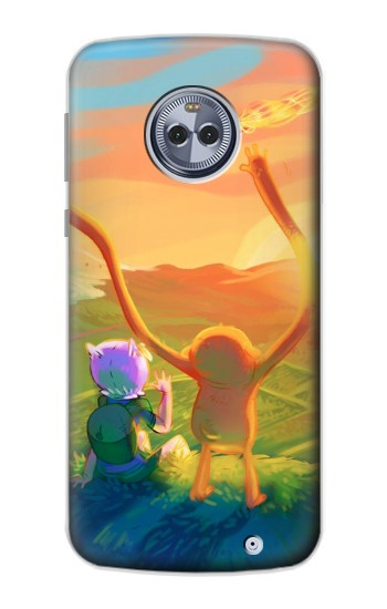 Printed Adventure Time Motorola Moto X4 Case