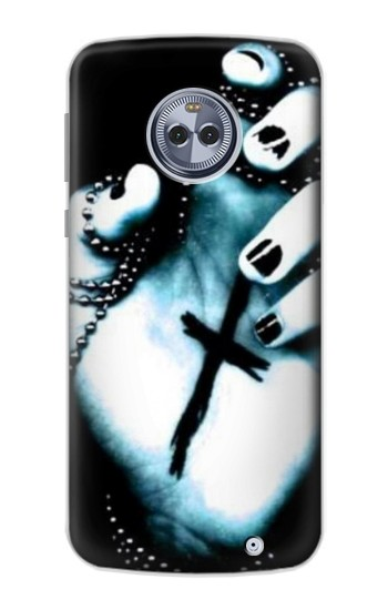 Printed Dark Gothic Cross Hand Motorola Moto X4 Case