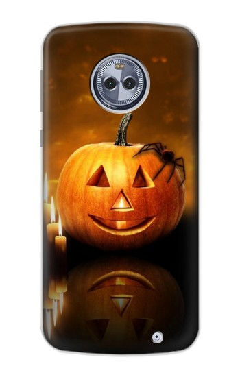 Printed Pumpkin Spider Candles Halloween Motorola Moto X4 Case