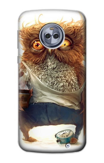 Printed Wake up Owl Motorola Moto X4 Case