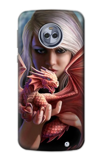 Printed Baby Red Fire Dragon Motorola Moto X4 Case