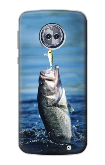 Printed Bass Fishing Motorola Moto X4 Case