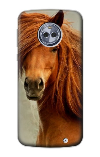 Printed Beautiful Brown Horse Motorola Moto X4 Case