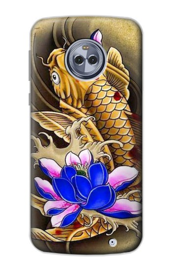 Printed Carp Koi Fish Japanese Tattoo Motorola Moto X4 Case