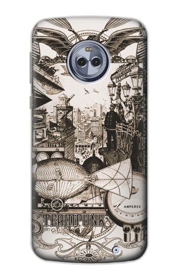 Printed Steampunk Drawing Motorola Moto X4 Case