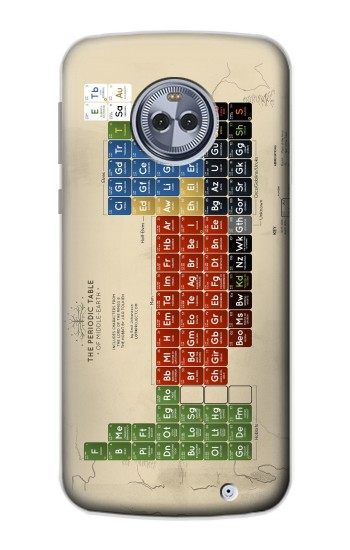 Printed The Periodic Table of Middle Earth The Lord of The Rings Motorola Moto X4 Case