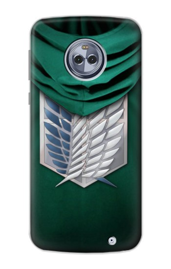 Printed Attack on Titan Scouting Legion Rivaille Green Cloak Motorola Moto X4 Case