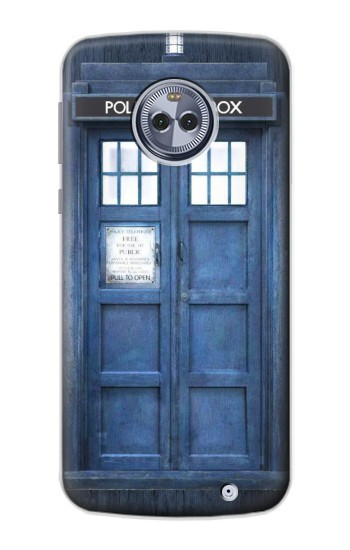 Printed Doctor Who Tardis Motorola Moto X4 Case
