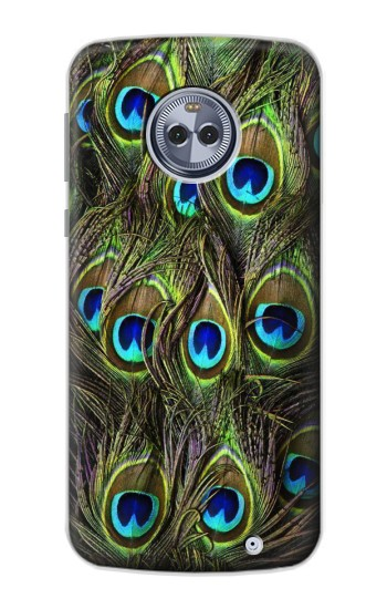 Printed Peacock Feather Motorola Moto X4 Case
