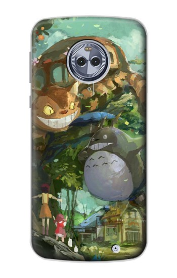 Printed My Neighbor Totoro Cat Bus Motorola Moto X4 Case