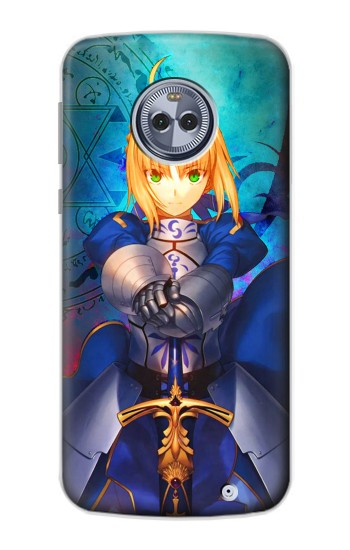 Printed Fate Stay Night Saber Arturia Pendragon Motorola Moto X4 Case