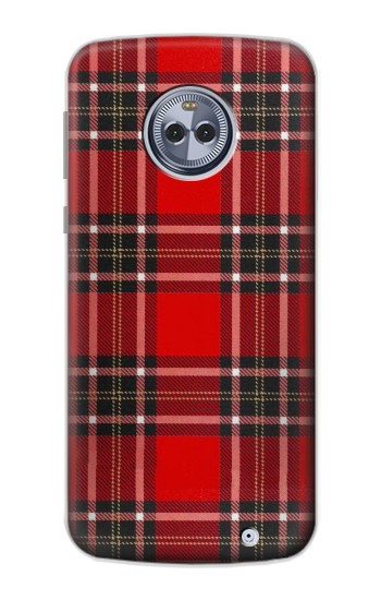 Printed Tartan Red Pattern Motorola Moto X4 Case