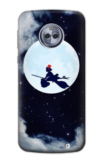 Printed Kiki Delivery Service Little Witch Kiki Moon Motorola Moto X4 Case