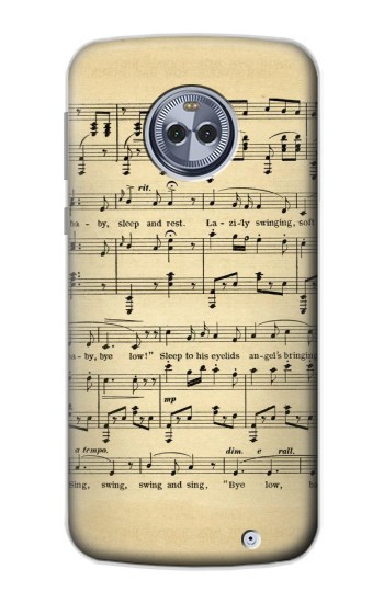 Printed Vintage Music Sheet Motorola Moto X4 Case