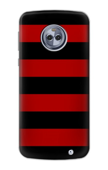 Printed Black and Red Striped Motorola Moto X4 Case