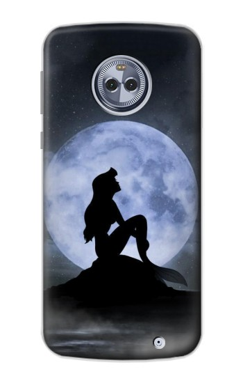 Printed Mermaid Moon Night Motorola Moto X4 Case