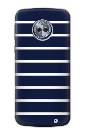 Printed Navy White Striped Motorola Moto X4 Case