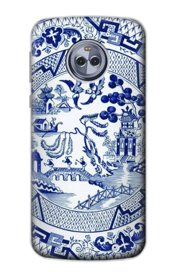 Printed Willow Pattern Illustration Motorola Moto X4 Case