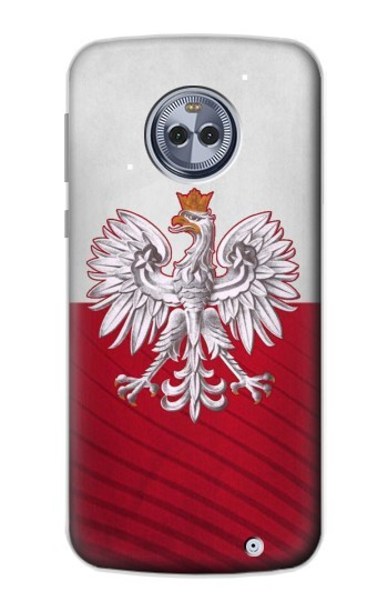 Printed Poland Football Flag Motorola Moto X4 Case