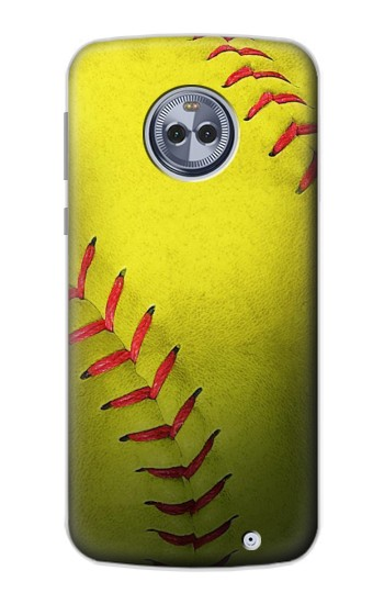 Printed Yellow Softball Ball Motorola Moto X4 Case