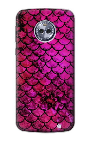 Printed Pink Mermaid Fish Scale Motorola Moto X4 Case