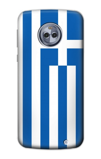 Printed Flag of Greece Motorola Moto X4 Case
