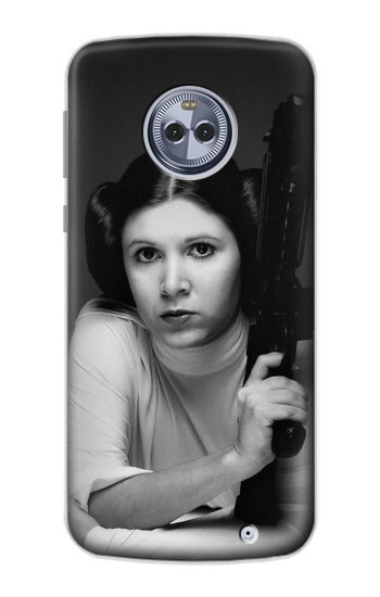 Printed Princess Leia Carrie Fisher Motorola Moto X4 Case
