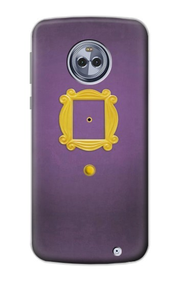 Printed Friends Purple Door Minimalist Motorola Moto X4 Case