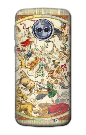 Printed Antique Constellation Map Motorola Moto X4 Case