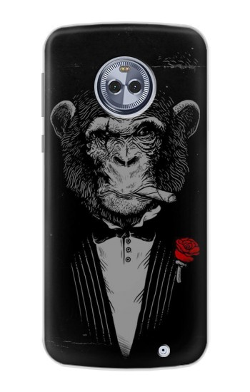 Printed Funny Monkey God Father Motorola Moto X4 Case