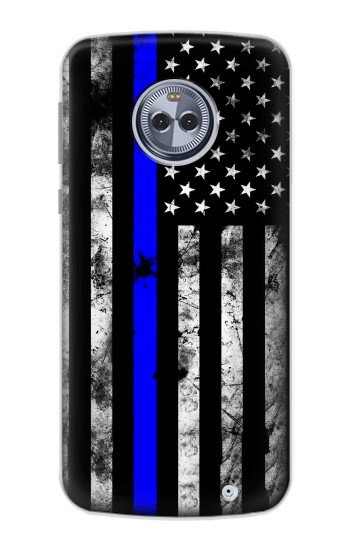 Printed Thin Blue Line USA Motorola Moto X4 Case