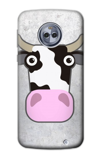 Printed Cow Cartoon Motorola Moto X4 Case
