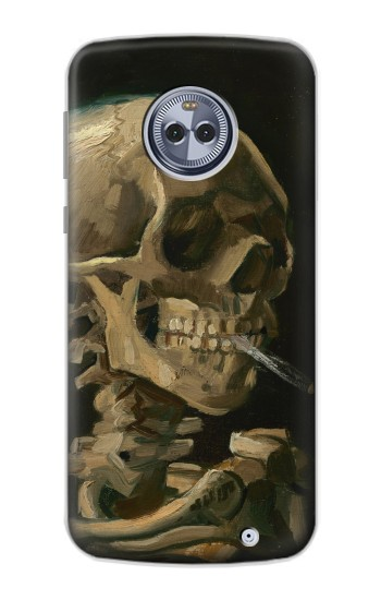 Printed Vincent Van Gogh Head Skeleton Cigarette Motorola Moto X4 Case