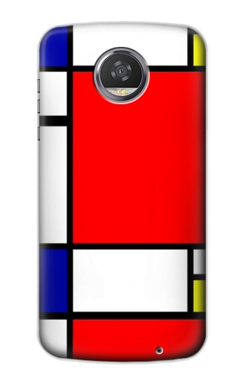 Printed Composition Red Blue Yellow HTC Desire 310 Case