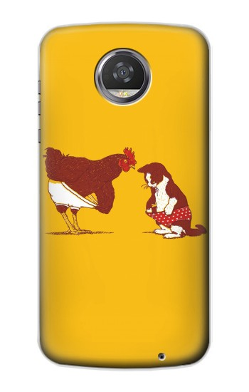 Printed Rooster and Cat Joke HTC Desire 310 Case