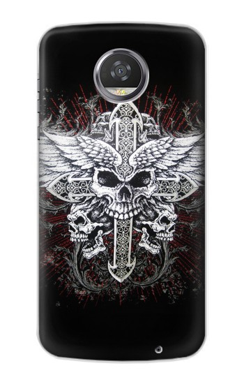 Printed Skull Wing Tattoo Biker HTC Desire 310 Case