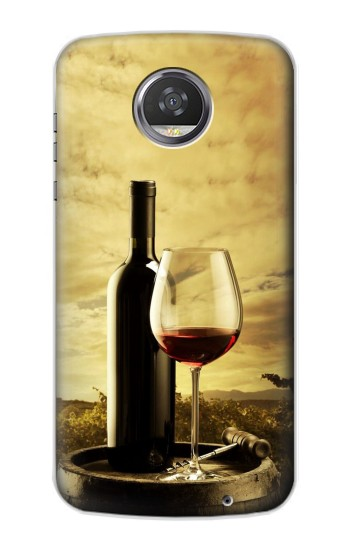 Printed A Grape Vineyard Grapes Bottle and Glass of Red Wine HTC Desire 310 Case