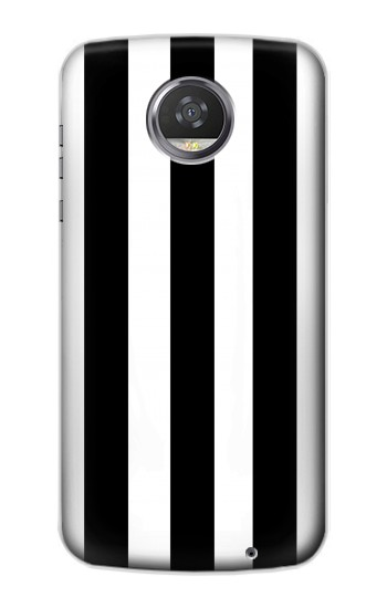 Printed Black and White Vertical Stripes HTC Desire 310 Case