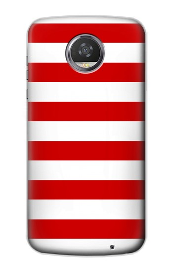 Printed Red and White Striped HTC Desire 310 Case