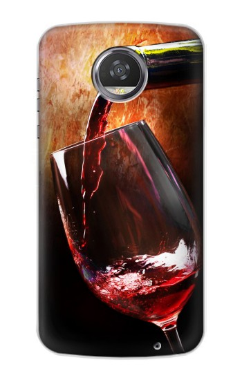 Printed Red Wine Bottle And Glass HTC Desire 310 Case