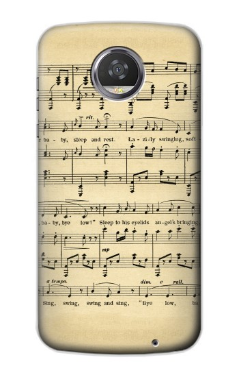 Printed Vintage Music Sheet HTC Desire 310 Case